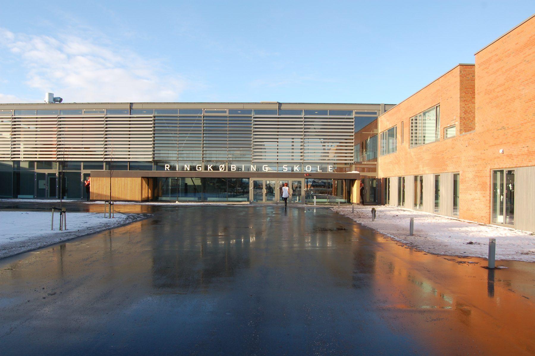 Ringkøbing Skole, Ringkøbing - indgang