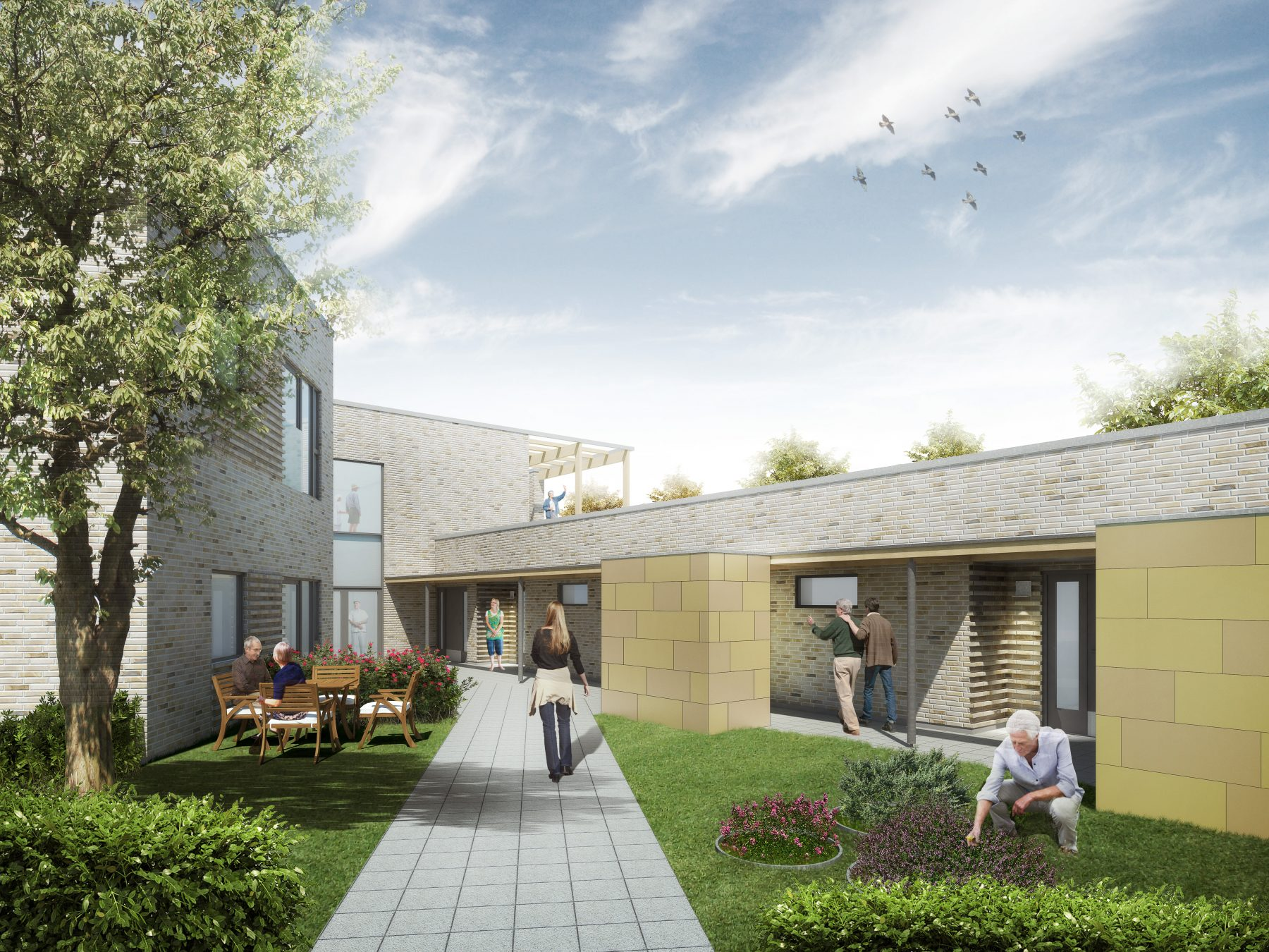 Bofællesskabet Egebæksvej, Aarhus - visualisering