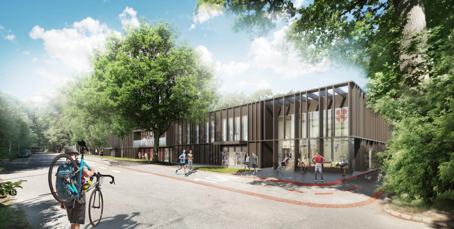 Marselisborghallen, Aarhus - visualisering ude dag